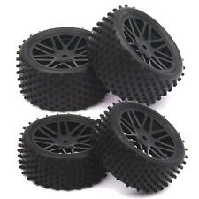 SET RC 1:10 Off-Road Buggy Car Front&Rear Tyre Tires Wheel Rim Black 66020-66040