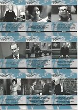 JAMES BOND-AUTOGRAPHS AND RELICS  FULL 21 CARD SKYFALL QUOTABLE SET
