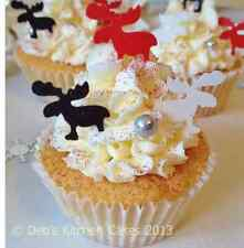 Christmas Cake Decorations - Reindeer Edible Wafer - Stand Up Wafer Toppers Mix