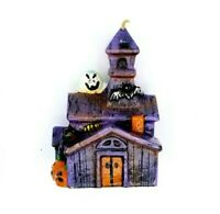 Vintage Antique Halloween Wax Candle Haunted House And Pumpkins Decoration NEW