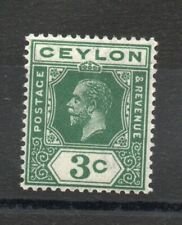 More details for ceylon sg 302w  3 cents   watermark inverted mnh