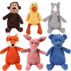 Pet Dog Puppy Chew Toy Squeaker Squeaky Soft Plush Play Sound Teeth Toy Gift