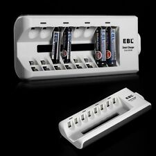 Universal Battery Charger for AA AAA NI-MH NI-CD Rechargeable Batteries 8 Slot