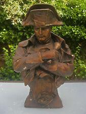 antike Napoleon Figur ~1880 Goldscheider Bildhauer Marchand Keramik Bronze Büste