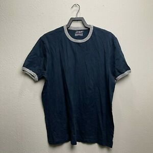 Old Navy Blue/ Grey Collar Trim Tee T-Shirt Size XL, XLarge