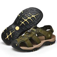 Leather Men's Trekking Shoes Summer Sandals Outdoor Beach Walking Flats Sneakers