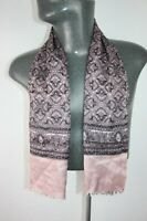 Vintage Silk Style lined Scarf Mod mens womens cravat foulard paisley *1532