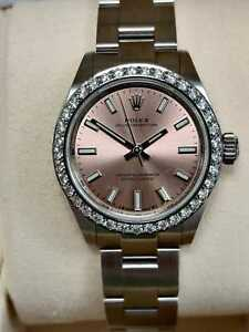 Oyster Perpetual 28mm Dial 2020  Pink/Salmon 276200 box and papers (96)