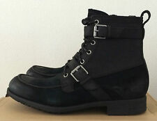UGG Mens Size 8 Black Leather Suede Olmsted Boots Water Resistant 1005086