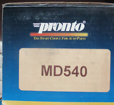 BRAND NEW PRONTO MD540 / D540 BRAKE PADS FITS VEHICLES LISTED ON CHART
