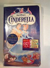 Disney Cinderella Vhs Masterpiece Collection New Sealed Clamshell