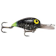 Storm Original Wiggle Wart 05 Fishing Lure Black Glitter/chartreuse Tail