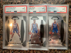 (3) 2017-18 Panini Prizm #1 Markelle Fultz Rookie PSA 9 Mint! Orlando Magic RC