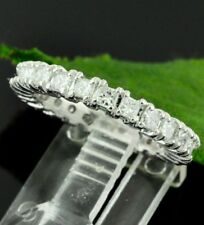 1.40 ct WHITE GOLD ETERNITY DIAMOND RING WEDDING BAND 14k made in USA