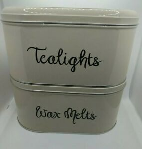 Wax Melts and Tealights Storage Box Tin