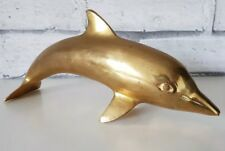 Vintage Antique Brass Dolphin Nautical Fish Sea Collectable Figurine