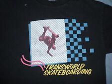 TRANSWORLD skateboarding t-shirt Med Black Cotton street skate surf