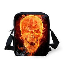 Skull Mens Womens Handbag Shoulder Bags Messenger Purse Sling School Bag Small