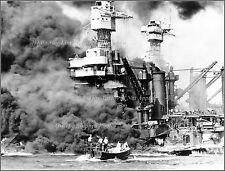 Photo: Pearl Harbor: WWII, USS West Virginia Burns, December 7th, 1941