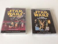 STAR WARS DARK FORCE RISING & X-WING ROGUE SQUADRON, Audio cassette books 1992