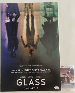 M. Night, McAvoy, Paulson & Joy Autographed Glass 12x18 Poster Signed X4 JSA COA