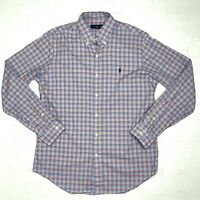 Ralph Lauren Dress Shirt Men's Size Medium Gingham Plaid Long Sleeve Button Down