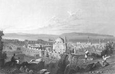 Israel ST JEAN D'ACRE AKKO KINGHTS Hospitaller Fortress 1836 Art Print Engraving