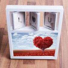 "4"" x 6"" 'I HEART U' PHOTO FRAME Valentines Day Gift Wedding/Engagement Picture"