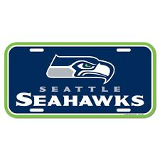 """SEATTLE SEAHAWKS 6""""x12"""" OFFICIAL LOGO LICENSE PLATE CAR BRAND NEW WINCRAFT"""