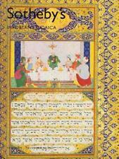 Sotheby's Imp. Judaica Torah Hebrew Bezalel Hanukah Auction Catalog 2007