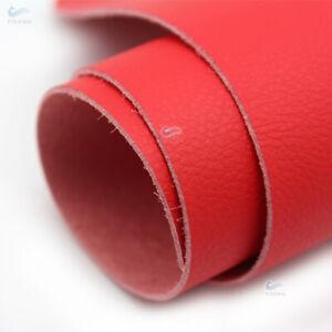 1.2MM DIY RED Leather Steering Wheel Door Handle Armrest Dashboard Panel Cover