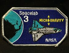 VINTAGE NASA SPACELAB 3 MICROGRAVITY SHUTTLE PATCH