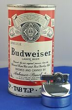 "Rare Vintage Budweiser Beer Can Table Top Gas Lighter 6"" Kramer Products K"