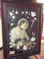 Quadro collage Arte sacra San Luigi Gonzaga 1933
