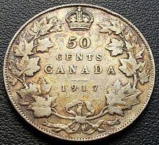 1917 Canada Silver 50 Cent Half Dollar ***VG Condition*** 92.5% Silver