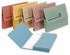 12 DOCUMENT WALLETS 285GSM HEAVIER DUTY FOOLSCAP ASSORTED WITH FREE SHIPPING