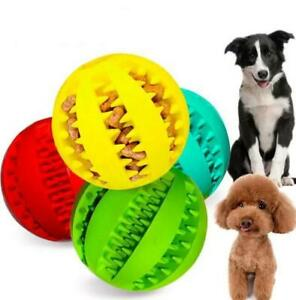 Pack of 3 Pet Balls, Dog Rubber Ball Teething Treat Clean Chew Puppy Toy 3 Sizes