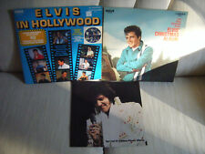 Elvis In Hollywood Bonus TV Booklet & Elvis Christmas Album Vinyl LP CANADA 1976