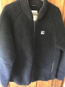 Helly Hansen Navy Fleece Zipped Sweater Size Large