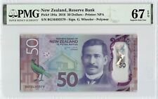 New Zealand 2016 P-194a PMG Superb Gem UNC 67 EPQ 50 Dollars *Polymer*