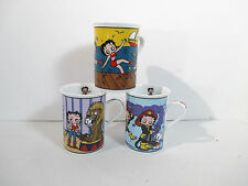 Betty Boop Coffee Mugs Danbury Mint Set of 3 Firefighter Boardwalk Lion Tamer
