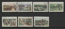 Vietnam du Nord 1969 exploitations forestières série 7 timbres oblitérés /TR8436