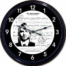 Kurt Cobain Nirvana Grunge All Apologies 80s Eighties Wall Clock Sheet Music 10""