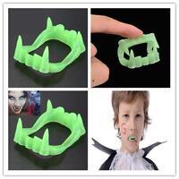 Glow In The Dark Vampire Fangs Kids Dracula Teeth Halloween Party Favor Toy WG