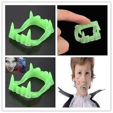 Glow In The Dark Vampire Fangs Kids Dracula Teeth Halloween Party Favor Toy Wj