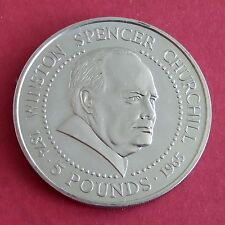 WINSTON CHURCHILL 1999 UNCIRCULATED GUERNSEY £5 CROWN