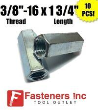 Qty 10 38 16 X W916 X L 1 34 Coarse Grade A Hex Rod Coupling Nut Zinc