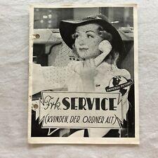 Service de Luxe Constance Bennett, Vincent Price 1938 Danish Movie Program