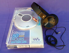 VINTAGE SONY CD WALKMAN D-EJ120 G-PROTECTION W/ SONY MDR-2X110NC HEADPHONES