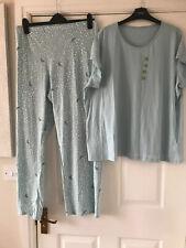 New Marks & Spencer Jersey Dolphin Print  Cotton   Pyjamas Set Size 24 - 26